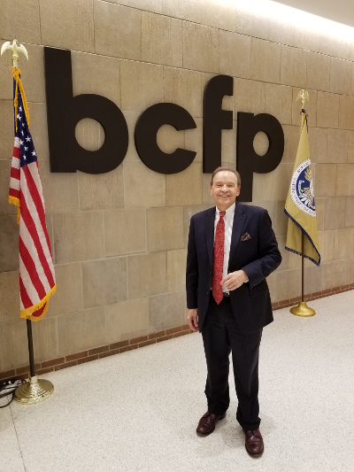 Brent Neiser at CFPB office